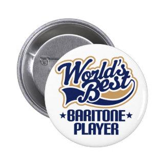 Worlds Best Baritone Player Gift 6 Cm Round Badge