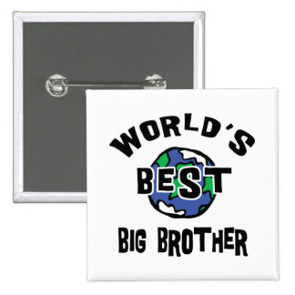 World's Best Big Brother 15 Cm Square Badge