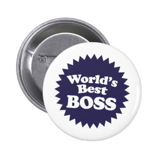 World's Best Boss 6 Cm Round Badge