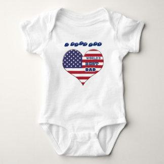 World's Best Dad American Flag Heart Tee Shirts