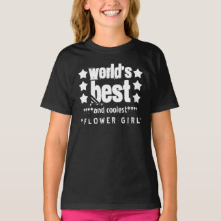 World's Best FLOWER GIRL with STARS A06 Tees