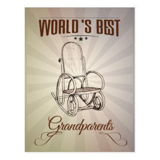 World's best grandparents postcard