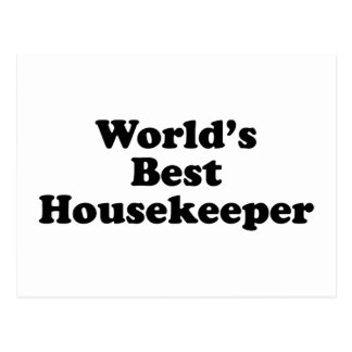 World's Best Housekeeper Postcard