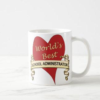 World's Best School Administrator Basic White Mug