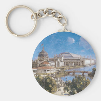 World's Colombian Exposition by Theodore Robinson Basic Round Button Key Ring