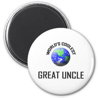 World's Coolest Great Uncle 6 Cm Round Magnet