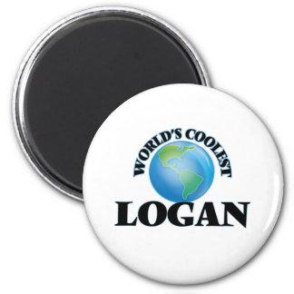 World's Coolest Logan 6 Cm Round Magnet