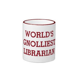 World's Gnolliest Librarian Ringer Mug