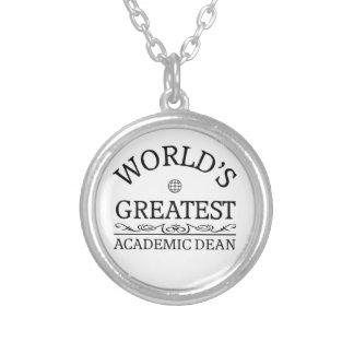 World's greatest Academic Dean Round Pendant Necklace