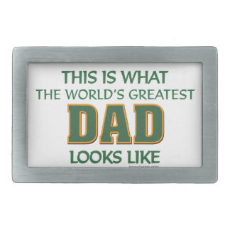 World's Greatest Dad Rectangular Belt Buckles