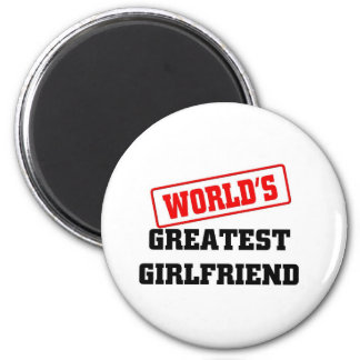 WORLD'S GREATEST GIRLFRIEND 6 CM ROUND MAGNET