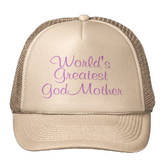 Worlds Greatest GodMother Cap