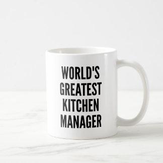 Worlds Greatest Kitchen Manager Basic White Mug