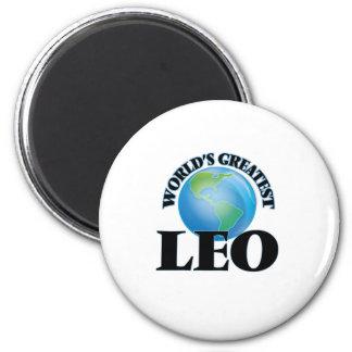 World's Greatest Leo 6 Cm Round Magnet
