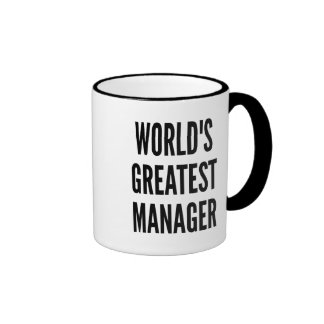 Worlds Greatest Manager Ringer Mug