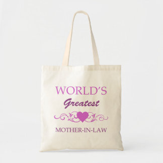 World's Greatest Mother-In-Law (purple) Budget Tote Bag