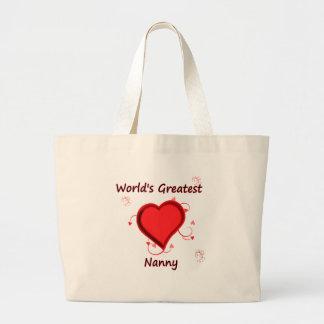 World's Greatest nanny Jumbo Tote Bag