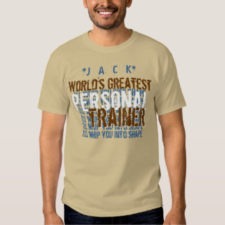 Worlds Greatest Personal Trainer Funny A7 TAN BLUE Shirts