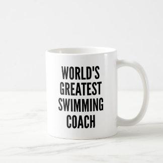 Worlds Greatest Swimming Coach Basic White Mug