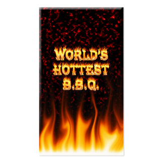 World's hottest BBQ fire and flames red marble. Pack Of Standard Business Cards