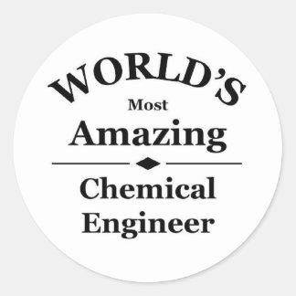 World's most amazing Chemical Engineer Round Sticker