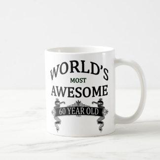 World's Most Awesome 60 Year Old Basic White Mug