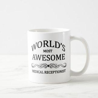 World's Most Awesome Medical Receptionist Basic White Mug