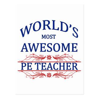 World's Most Awesome PE Teacher Postcard