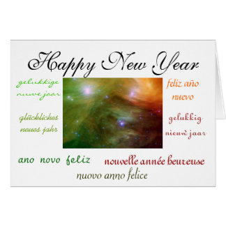 World's New Year Note Card