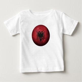 Worn Albanian Flag Football Soccer Ball T-shirt