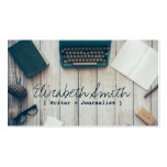 Writer author cool vintage typewriter professional pack of standard business cards