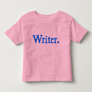 Writer (blue lettering) t shirts