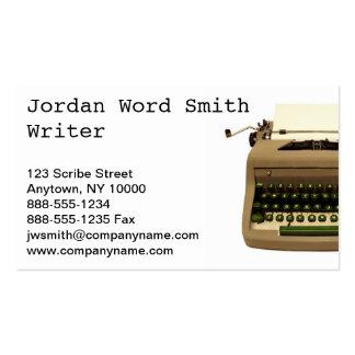 """Writer"" Business Card"