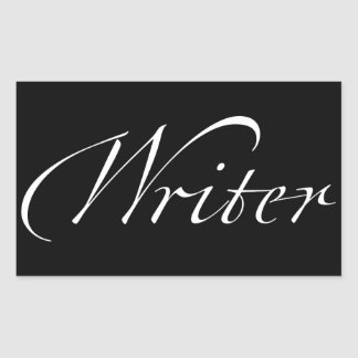 Writer Rectangular Sticker