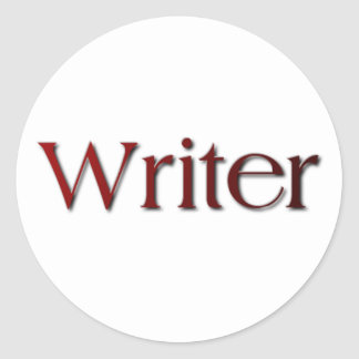 Writer Round Sticker