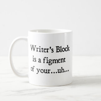 Writer's block basic white mug