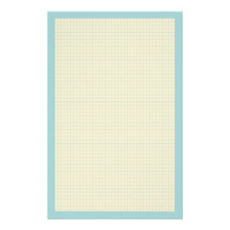 Writing paper Stationery with grid pattern