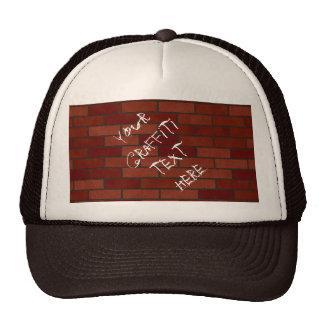 Writings on the brick wall cap