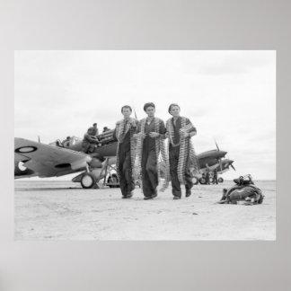 WW2 Airplane Ammunition, 1940s Poster