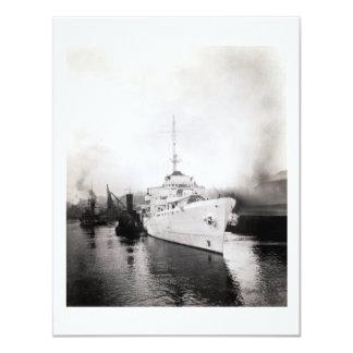 WWII US Coast Guard Cutter Campbell 11 Cm X 14 Cm Invitation Card