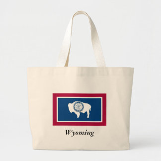 Wyoming State Flag Jumbo Tote Bag