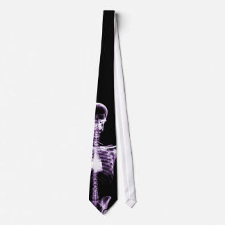 X-Ray Vision Purple Single Skeleton Neck Tie