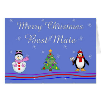 Xmas best mate greeting card
