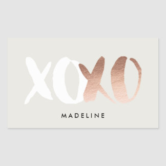 XOXO Rose Gold Foil Stickers