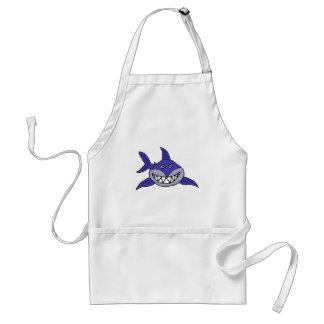 XX- Hilarious Grinning Shark Cartoon Standard Apron