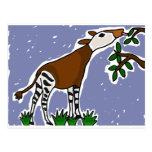 XX- Okapi Art Cartoon Postcard
