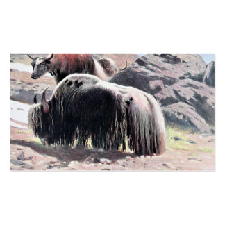Yaks Vintage Painting Pack Of Standard Business Cards