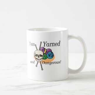 Yarned and Dangerous T-shirts and Gifts. Basic White Mug
