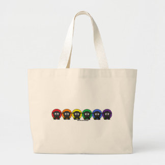 Yarnoholics Anonymous Fluffy Rainbow Sheep Jumbo Tote Bag