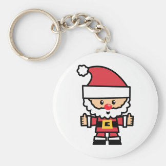 Yay For Color Xmas Character - Santa Claus Basic Round Button Key Ring
